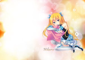Rating: Safe Score: 51 Tags: aizawa_hikaru blonde_hair microsoft shinia thighhighs User: eDeath32