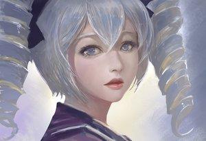 Rating: Safe Score: 45 Tags: blue_eyes bronya_zaychik close gray_hair honkai_impact long_hair realistic school_uniform tagme_(artist) twintails User: luckyluna
