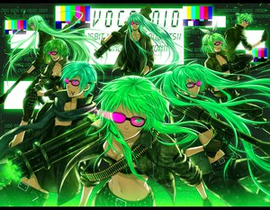 Rating: Safe Score: 86 Tags: bokura_no_16bit_warz_(vocaloid) glasses green green_eyes green_hair gumi gun hatsune_miku kagamine_len kagamine_rin kaito kamui_gakupo megurine_luka meiko vocaloid weapon yuuno_(yukioka) User: HawthorneKitty