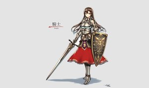 Rating: Safe Score: 90 Tags: armor brown_eyes dress gia gray original signed sword weapon User: FoliFF