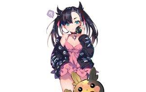 Rating: Questionable Score: 56 Tags: black_hair blush choker dress green_eyes mary_(pokemon) morpeko nopan pokemon ribbons third-party_edit twintails usagihime User: RyuZU