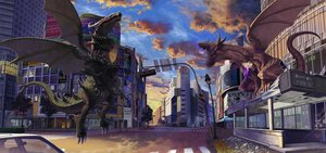 Rating: Safe Score: 18 Tags: city dragon higashiyama_hayato original User: FormX