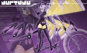 Rating: Safe Score: 73 Tags: blue_eyes bodysuit braids gloves hyperdimension_neptunia kokoa long_hair neptune purple_hair purple_heart skintight sword thighhighs weapon wings zoom_layer User: meccrain