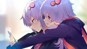 Rating: Safe Score: 42 Tags: blush close hoodie hug long_hair male original phone purple_eyes purple_hair shirinda_fureiru short_hair twins vocaloid voiceroid yuzuki_yukari yuzuki_yukari's_younger_twin_brother User: otaku_emmy