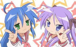 Rating: Safe Score: 3 Tags: hiiragi_kagami izumi_konata lucky_star school_uniform stars User: Oyashiro-sama