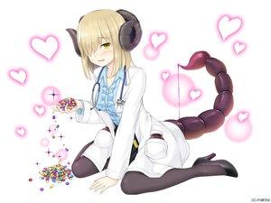 Rating: Safe Score: 21 Tags: blonde_hair heart horns monmusu_harem namaru_(summer_dandy) pantyhose short_hair tail white yellow_eyes User: otaku_emmy