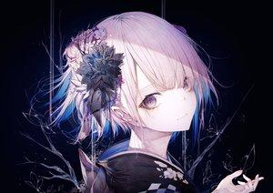 Rating: Safe Score: 69 Tags: close flowers hito_komoru japanese_clothes kimono original polychromatic short_hair User: Dreista