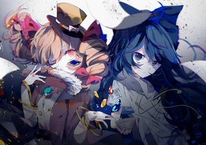 Rating: Safe Score: 19 Tags: touhou yorigami_joon yorigami_shion zhixie_jiaobu User: FormX