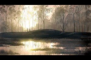 Rating: Safe Score: 166 Tags: landscape mugon original scenic tree water User: opai