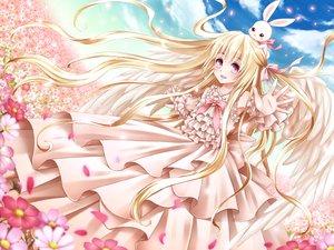 Rating: Safe Score: 63 Tags: blonde_hair bunny dress flowers long_hair mimi_(tetoru09) original wings User: FormX