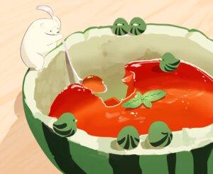 Rating: Safe Score: 24 Tags: animal bear bird chai_(artist) cropped food fruit nobody original polychromatic watermelon User: otaku_emmy