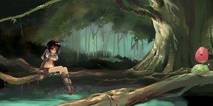 Rating: Safe Score: 32 Tags: black_eyes black_hair boots forest poring ragnarok_online scenic short_hair tree water User: 秀悟