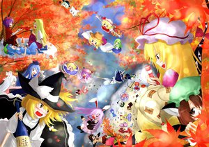 Rating: Safe Score: 39 Tags: alice_margatroid animal_ears autumn bunny_ears bunnygirl catgirl chen cirno drink fairy flandre_scarlet fujiwara_no_mokou group hakurei_reimu hoshiguma_yuugi ibuki_suika inaba_tewi inubashiri_momiji izayoi_sakuya japanese_clothes kamishirasawa_keine kawashiro_nitori kirisame_marisa kochiya_sanae komeiji_koishi konpaku_youmu leaves maid miko moriya_suwako myon onozuka_komachi patchouli_knowledge reisen_udongein_inaba saigyouji_yuyuko shameimaru_aya shiki_eiki touhou tree vampire witch wolfgirl yakumo_yukari yasaka_kanako yuu-rin User: austerely