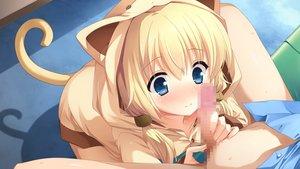 Rating: Explicit Score: 304 Tags: animal_ears asasaka_meguri blonde_hair blue_eyes blush censored game_cg hulotte ikegami_akane imouto_no_okage_de_mote_sugite_yabai penis tail User: Wiresetc