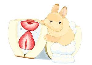 Rating: Safe Score: 17 Tags: animal food fruit lilac_(pfeasy) original rabbit strawberry waifu2x white User: otaku_emmy