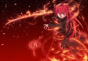 Rating: Safe Score: 119 Tags: blood long_hair magic nakada_daichi red_eyes red_hair shakugan_no_shana shana sword torn_clothes weapon User: Wiresetc