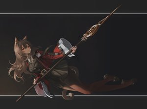 Rating: Safe Score: 56 Tags: animal_ears arknights catgirl hara_shoutarou long_hair pantyhose red_eyes skyfire_(arknights) spear tail weapon User: BattlequeenYume