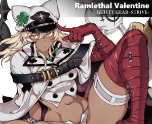 Rating: Safe Score: 25 Tags: animal_ears blonde_hair boots cape cropped dark_skin elbow_gloves fishine garter gloves guilty_gear hat ramlethal_valentine short_hair shorts spread_legs thighhighs waifu2x yellow_eyes User: otaku_emmy