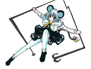 Rating: Safe Score: 4 Tags: animal_ears dress mousegirl nazrin red_eyes short_hair tail touhou weapon white white_hair User: konstargirl