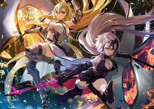 Rating: Safe Score: 71 Tags: armor blonde_hair breasts cleavage fate/grand_order fate_(series) jeanne_d'arc_alter jeanne_d'arc_(fate) long_hair nima_(niru54) sword weapon User: Dreista