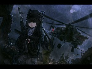 Rating: Safe Score: 122 Tags: call_of_duty dark gun rain tagme terabyte_(rook777) weapon User: opai