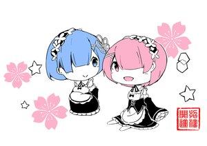 Rating: Safe Score: 42 Tags: blue_eyes blue_hair chibi headdress maid mitu_yang pink_eyes pink_hair polychromatic ram_(re:zero) rem_(re:zero) re:zero_kara_hajimeru_isekai_seikatsu short_hair twins User: otaku_emmy