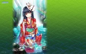 Rating: Safe Score: 58 Tags: black_hair game-style green japanese_clothes kieta_sekai_to_tsuki_to_shoujo kimono logo long_hair mask nazo_no_shoujo_(etatoto) red_eyes tsukinon water watermark User: RyuZU