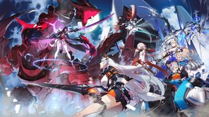 Rating: Safe Score: 91 Tags: bianka_durandal_ataegina blonde_hair bronya_zaychik fu_hua group honkai_impact kiana_kaslana long_hair mechagirl raiden_mei ryota-h seele_vollerei sword veliona weapon white_hair User: BattlequeenYume
