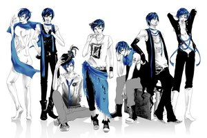 Rating: Questionable Score: 18 Tags: aliasing all_male kaito male monochrome vocaloid white User: HawthorneKitty