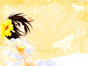 Rating: Safe Score: 14 Tags: signed summer suzumiya_haruhi suzumiya_haruhi_no_yuutsu swimsuit watermark yellow User: Xtea