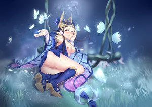 Rating: Explicit Score: 98 Tags: aliasing ams animal arena_of_valor ass black_hair blush breasts butterfly diao_chan_(arena_of_valor) dress flowers long_hair nipples nopan pointed_ears pussy uncensored yellow_eyes User: BattlequeenYume