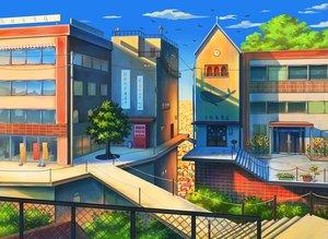 Rating: Safe Score: 23 Tags: building city flowers mizuasagi nobody original scenic stairs tree User: RyuZU