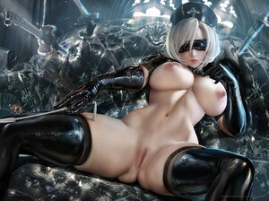 Rating: Explicit Score: 202 Tags: blindfold nier nier:_automata nipples nude nurse pussy realistic sakimichan short_hair spread_legs thighhighs uncensored white_hair yorha_unit_no._2_type_b User: BattlequeenYume