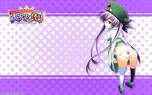 Rating: Questionable Score: 117 Tags: ass elena_do_arcadia hat logo long_hair panties pantsu_wo_miseru_koto_sore_ga... purple_hair red_eyes thighhighs twintails underwear watermark yuuki_hagure User: Shinigami-Seed