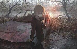 Rating: Safe Score: 34 Tags: car forest original polychromatic tokunaga_akimasa tree User: FormX