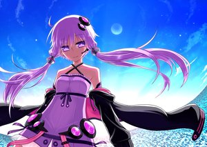 Rating: Safe Score: 85 Tags: kurakumo_nue long_hair moon purple_eyes purple_hair sky stars twintails vocaloid yuzuki_yukari User: FormX