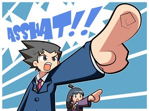 Rating: Safe Score: 12 Tags: ayasato_mayoi chibi gyakuten_saiban maya_fey phoenix_wright User: Oyashiro-sama