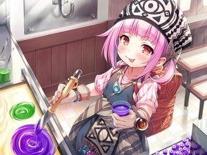 Rating: Safe Score: 28 Tags: ayakashi_kyoushuutan blush dress gloves hasumi_(hasubatake39) headdress loli lose monobeno necklace pink_hair red_eyes short_hair User: Fepple