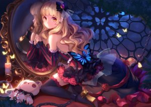 Rating: Safe Score: 381 Tags: aliasing blonde_hair bondage bunny butterfly chain dress long_hair mayu_(vocaloid) mirror orange_eyes reflection shackles stellarism thighhighs vocaloid User: Flandre93