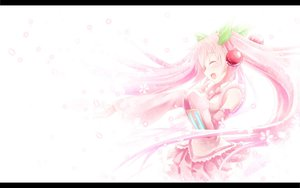 Rating: Safe Score: 59 Tags: akkijin hatsune_miku long_hair petals pink_hair sakura_miku twintails vocaloid User: FormX