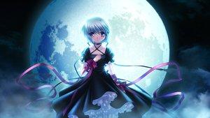 Rating: Safe Score: 128 Tags: dress game_cg gray_hair hinoue_itaru kagari_(rewrite) moon rewrite short_hair User: Wiresetc