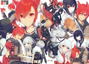 Rating: Safe Score: 23 Tags: akizone animal animal_ears black_hair braids catboy cheeze_(akizone) chocobo final_fantasy final_fantasy_xiv gray_hair male miqo'te ponytail red_eyes red_hair renz_(rirene_rn) tail User: BattlequeenYume