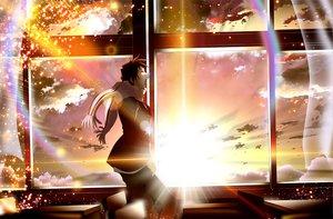 Rating: Safe Score: 28 Tags: all_male kyon male skyt2 sunset suzumiya_haruhi_no_yuutsu User: HawthorneKitty