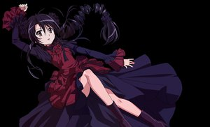 Rating: Safe Score: 113 Tags: black_hair boots brown_eyes dress goth-loli lolita_fashion long_hair shakugan_no_shana shana transparent vector User: gnarf1975
