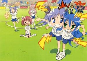 Rating: Safe Score: 14 Tags: ball gym_uniform hiiragi_kagami hiiragi_tsukasa izumi_konata kobayakawa_yutaka kogami_akira lucky_star scan shiraishi_minoru soccer sport takara_miyuki User: Xtea