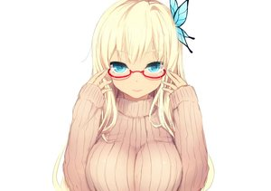 Rating: Safe Score: 163 Tags: aqua_eyes blonde_hair boku_wa_tomodachi_ga_sukunai breasts cait glasses kashiwazaki_sena long_hair white User: luckyluna