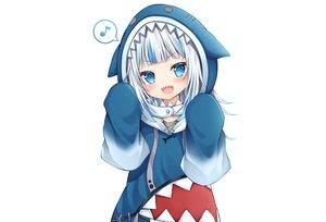 Rating: Safe Score: 49 Tags: aqua_eyes blush gawr_gura hololive hoodie loli music shichi_(tarakochan-medo) short_hair white white_hair User: otaku_emmy