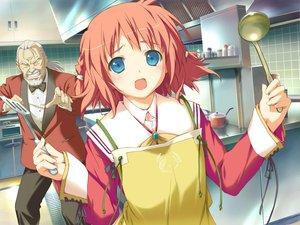 Rating: Safe Score: 6 Tags: amagahara_inaho apron favorite game_cg happy_margaret! kokonoka User: 秀悟