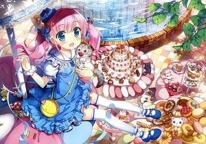 Rating: Safe Score: 105 Tags: blue_eyes fujima_takuya loli pink_hair scan tagme thighhighs twintails User: Wiresetc