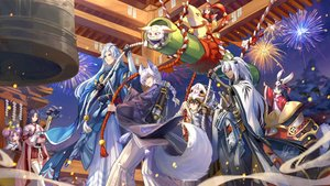 Rating: Safe Score: 18 Tags: achyue animal animal_ears bell black_hair blue_eyes braids cat dark_skin doll fireworks gray_eyes group japanese_clothes katana long_hair male mask ofuda onmyouji orange_eyes ponytail purple_eyes purple_hair red_eyes rope shrine sky stars sword tagme_(character) tail tattoo thighhighs weapon white_hair User: RyuZU